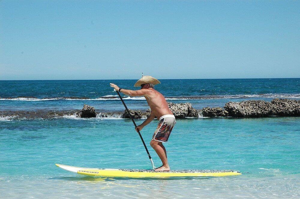 Man Paddle Boarding